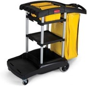Rubbermaid High Capacity Housekeeping and Cleaning Cart - Tente