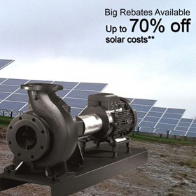 Solar Irrigation Pumps | 7.5Kw Pump Inverter w/ 4.5 Kw Solar