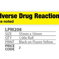Medi Print Australia - Medical Alert -ADVERSE DRUG REACTION Date Noted
