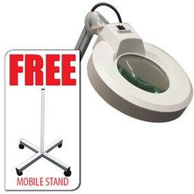 Mobile Magnification Lamp with FREE MOBILE STAND | MINKS1081A