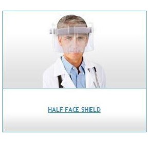 Radiation Protection Face Shield | Half Face Shield