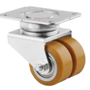 Twin Wheel Low Profile Heavy Duty Swivel Castors