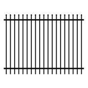Security Fencing | Hercules Steel Panel 2400 x 1800mm – Black