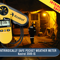 Intrinsically Safe Pocket Weather Meter | Kestrel 3500-IS