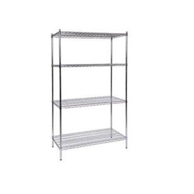 Chrome-Wire Shelving Static Bay