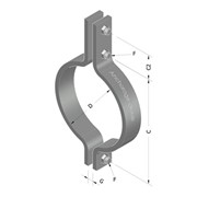 3-Bolt Pipe Clamp - Medium Duty - AG160 - Anchorage Group