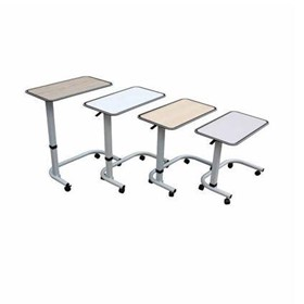 Hpl Overbed Table Maple Table Grey Frame
