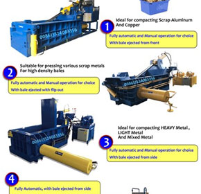 Hydraulic Light Metal Baler/Scrap Metal Baling Machine/Metal Compactor