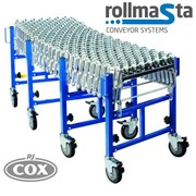Heavy Duty Skate Wheel Expandable Flexible Conveyor