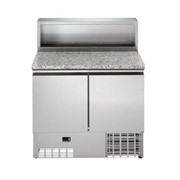 Digital Undercounter Refrigerated Counter Saladette - 250lt, 2Door