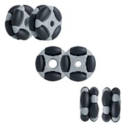 35mm Double (R2) Wheels - Rotacaster Omni-Wheels Multi-Directional