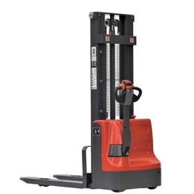 Full Electric Walkie Stacker 1000 kg Capacity 3500 mm Lifting Height
