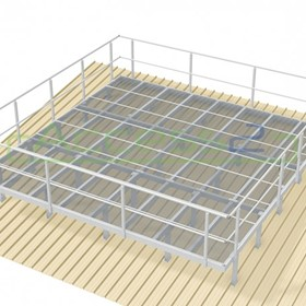 Engineered Modular Aluminium Platform Kit with Handrails | Access2