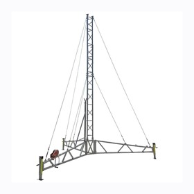 Portable Hinged Tripod Lattice Tower | AL340 Series, 8m