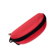 Eyewear Red Hard Zipper Case