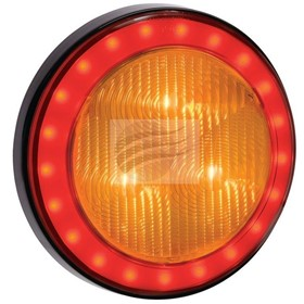 LED Round Rear Direction Indicator Lamp with Tail Lamp Ring | Narva 43
