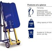 Rugged Manual Hydraulic Bin Lifter - 100kg Capacity