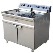 Commercial Freestanding Double Deep Fryer