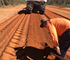 Moisture check during road stabilisation. Photo c/o Isaac Regional Council