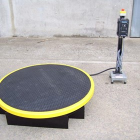 RotoLift Fixed Height Motorised Pallet Turning Table -Pedestal Control