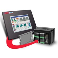 Integrated HMI Touch Panel + PLC