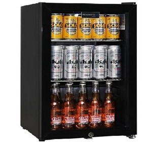 Schmick Black Tropical Double Glazed Glass Door Bar Fridges