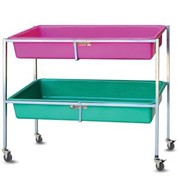 Multi-purpose display stand with removable tubs