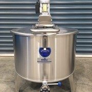 200L Vertical Single Skin Stainless Steel Cream Tank