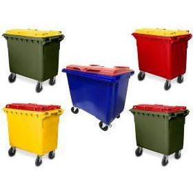 660 Litre 4 Wheel Plastic Wheelie Bin Custom Lid & Body