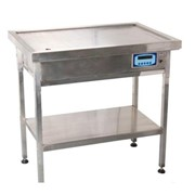 Stainless Steel Veterinary Exam Table with Built-in Scales - Flatpack