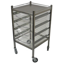 Perspex Hospital Dressing Trolley | SS13VP
