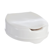 Toilet Seat Raiser Clip On With Lid 100mm