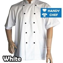 Traditional White Short Sleeve Chef Jacket
