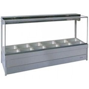 Square Glass Hot Food Display Bars | S26RD
