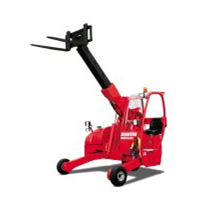 Telescopic truck mounting forklifts