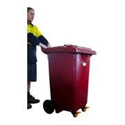 Ergonomic Push Wheelie Waste Bin