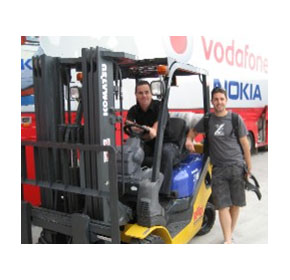 Komatsu Forklifts Proudly Partnering TeamVodafone in the V8 Supercar Championships