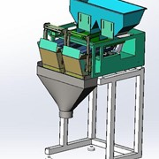 OP-P2H200 Dual Head Linear Weigher Weigh Hopper Capacity 20L Ea