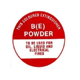 Identification Sign - Dry Powder BE