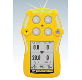 The New GasAlert Quatro with continous flashing LED to ensure your safety