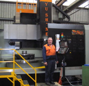 Large new CNC Vertical Borer at John Heine & Son in Syd