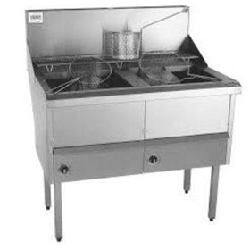WFS-2/22 2 Pan Fish and Chips Deep Fryer | 28 Liter Capacity
