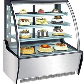 Curved Standing Cake Display Cabinet/Fridge 900mm