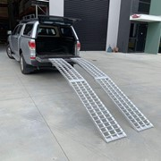 Aluminium Curved Folding Lawn Mower Loading Ramps | Heeve 3m x 1-Tonne