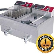 Electric Double 7.5lt Benchtop Fryer | EF-S7.52