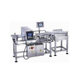 Combination System - Metal detector and check weigher in one