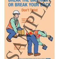 Break the habit or break your back - Don't Twist