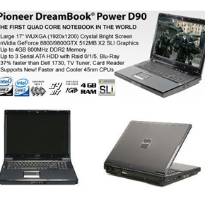 DreamBook Power D90