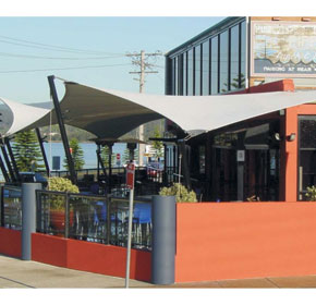 Shade Systems Applications | Outdoor Smoking Areas