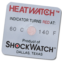 ShockWatch Environmental Indicators - HeatWatch